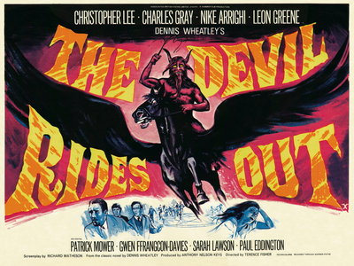 THE DEVIL RIDES OUT (restored) Poster Art Print by Tom Chantrell