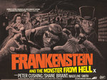 FRANKENSTEIN AND THE MONSTER FROM HELL (aged) Fine Art Print by Tom Chantrell