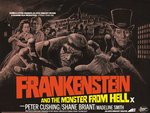 FRANKENSTEIN AND THE MONSTER FROM HELL (restored) Poster Art Print by Bill Wiggins