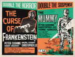 FRANKENSTEIN/THE MUMMY (aged) Wall Art & Canvas Prints by Tom Chantrell
