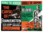 FRANKENSTEIN/THE MUMMY (restored) Wall Art & Canvas Prints by Tom Chantrell