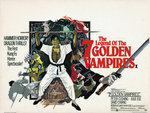 THE LEGEND OF THE SEVEN GOLDEN VAMPIRES (aged) Poster Art Print by Tom Chantrell
