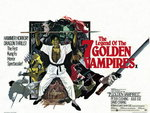 THE LEGEND OF THE SEVEN GOLDEN VAMPIRES (restored) Fine Art Print by Tom Chantrell