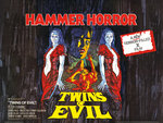 TWINS OF EVIL (aged) by Tom Chantrell - print