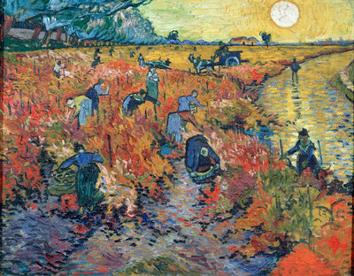 The Red Vineyards at Arles Fine Art Print by Vincent Van Gogh
