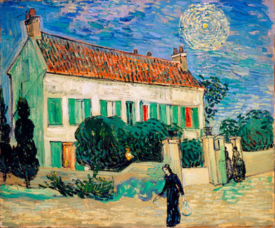 White House at Night Wall Art & Canvas Prints by Vincent Van Gogh