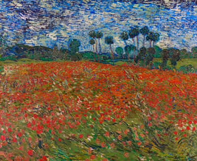 Poppy field Poster Art Print by Vincent Van Gogh