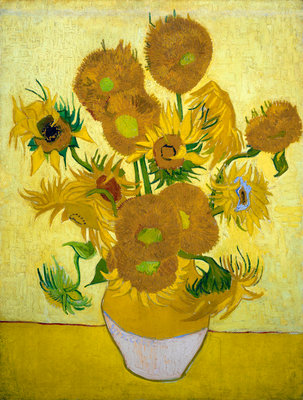 The Sunflowers Poster Art Print by Vincent Van Gogh