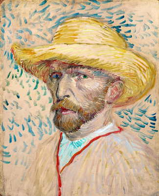 Self-portrait Fine Art Print by Vincent Van Gogh