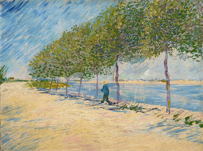 Along the Seine Fine Art Print by Vincent Van Gogh