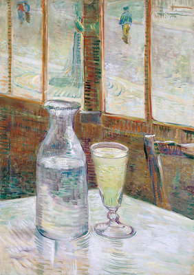 Café table with absinth Fine Art Print by Vincent Van Gogh