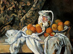 Still Life with Drapery Wall Art & Canvas Prints by Paul Cezanne