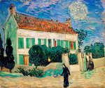 White House at Night Fine Art Print by Vincent van Gogh