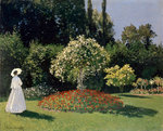 A Lady in the Garden, Sainte-Adresse Fine Art Print by Claude Monet