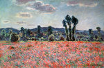 Poppy Field Wall Art & Canvas Prints by Claude Monet
