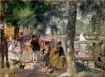 Bathing on the Seine (La Grenouillére) Fine Art Print by Juan Alcazar
