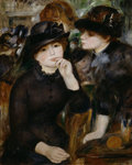 Two Girls in Black Poster Art Print by Bessie MacNicol