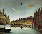 View of the Sévres Bridge and the Hills of Clamart, Saint-Cloud and Bellevue Fine Art Print by Franco-Flemish School