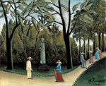 The Luxembourg Gardens, Monument to Chopin Fine Art Print by Joseph Werner