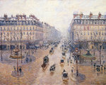 L'Avenue de l'Opéra. Snow. Morning Fine Art Print by Camille Pissarro