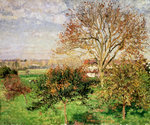 Autumn morning at Èragny Fine Art Print by Camille Pissarro