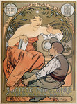 Poster for the Societe Populaire des Beaux Arts Fine Art Print by Henri de Toulouse-Lautrec