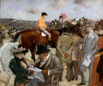Horseracing Fine Art Print by Pierre Auguste Renoir