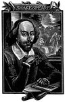 William Shakespeare, English playwright and poet Fine Art Print by English School