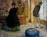 Interior with Two Figures Fine Art Print by Pierre Auguste Renoir