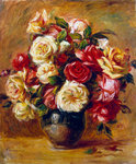 Bouquet of Roses Wall Art & Canvas Prints by George Washington Lambert
