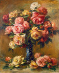 Roses in a Vase Fine Art Print by Jan Brueghel
