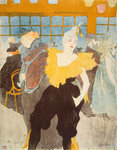 La Clownesse in the Moulin Rouge Wall Art & Canvas Prints by Henri de Toulouse-Lautrec