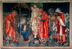 The Adoration of the Magi', tapestry Poster Art Print by Ethiopian School