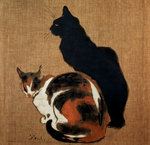 Two Cats Fine Art Print by Julie Nicholls