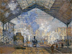 The Gare Saint Lazare Fine Art Print by French School