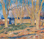The viaduct in Arles. The blue train Fine Art Print by French School