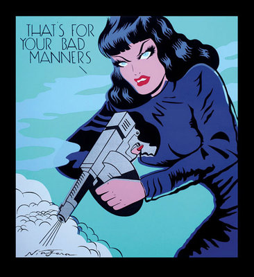 That's for your Bad Manners Fine Art Print by Niagara Detroit