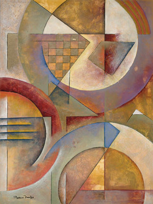 Circular Rhythms I Fine Art Print by Marlene Healey