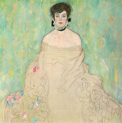Portrait of Amalie Zuckerkandl unfinished, 1917-1918 Fine Art Print by Gustav Klimt