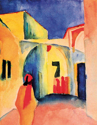 The Casbah Fine Art Print by August Macke