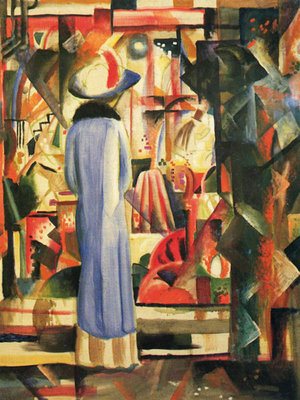 Large Bright Showcase Fine Art Print by August Macke
