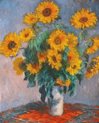 Vase of Sunflowers Fine Art Print by Claude Monet