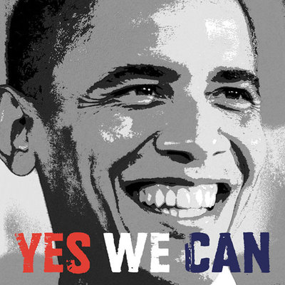Barack Obama: Yes We Can Fine Art Print by Celebrity Photo
