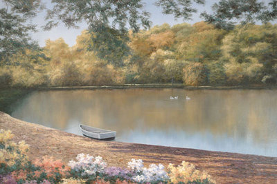 Golden Pond Poster Art Print by Diane Romanello