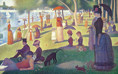 Sunday Afternoon on the Island of Grand Jatte 1864-6 Fine Art Print by Georges Seurat
