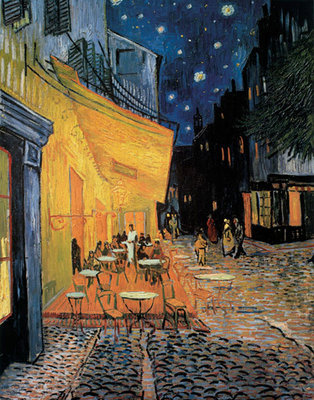 Cafe Terrace at Night Fine Art Print by Vincent Van Gogh
