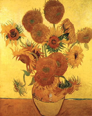 Sunflowers on Gold, 1888 Fine Art Print by Vincent Van Gogh