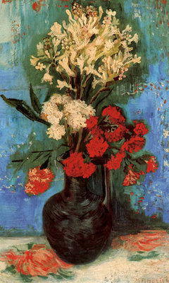 Vase with Carnations and Other Flowers, 1886 Fine Art Print by Vincent Van Gogh