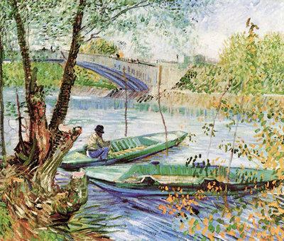 A Fisherman in His Boat Fine Art Print by Vincent Van Gogh