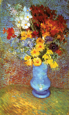 Vase With Anemone Fine Art Print by Vincent Van Gogh